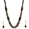 Beadside Black & Brown Beads Necklace Set