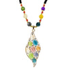 Urthn Multicolor Beads & Stone Gold Plated Necklace
