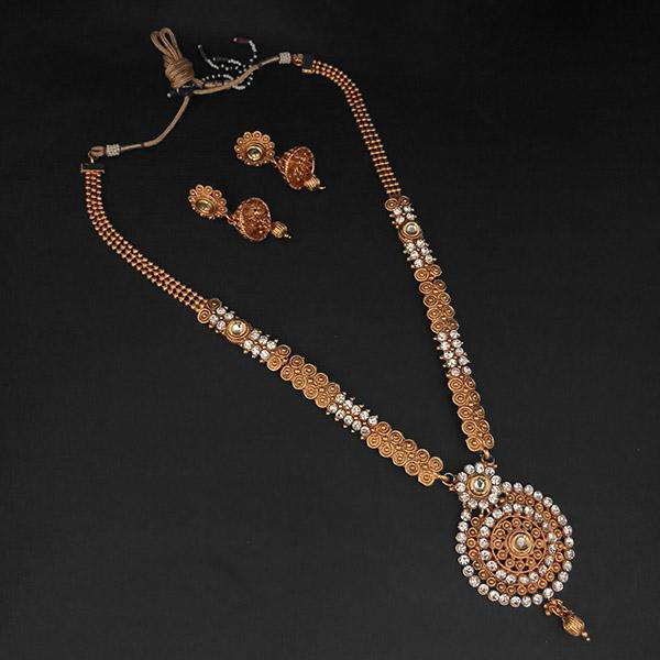 f0a85962dff4b Kriaa Gold Plated White Austrian Stone Necklace Set