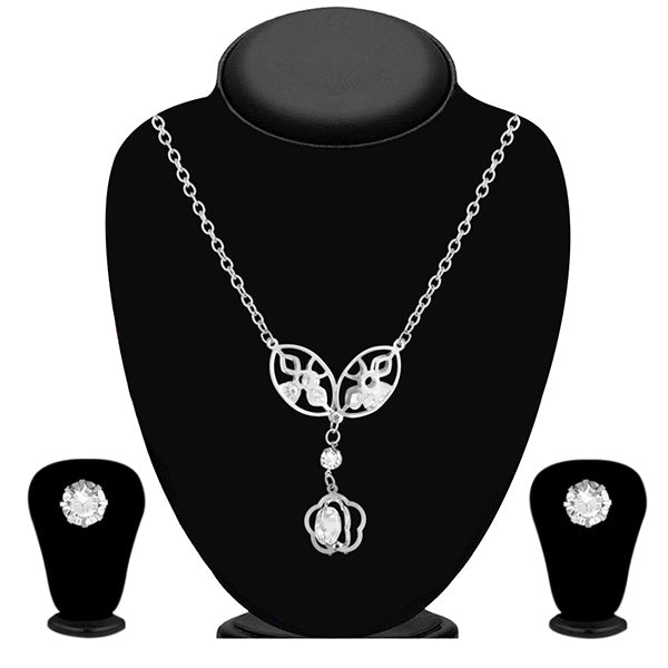 Urthn Austrian Stone Silver Plated Necklace Set