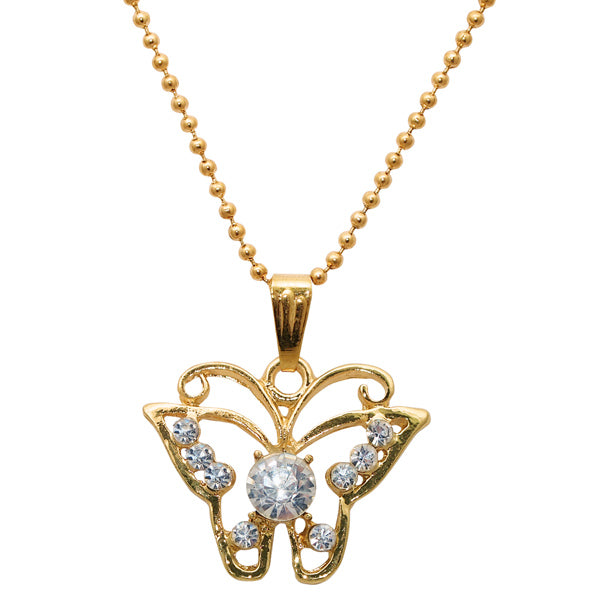 Regina White Stone Butterfly Shaped Chain Pendant