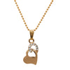 Regina White Austrian Stone Heart Shaped Chain Pendant