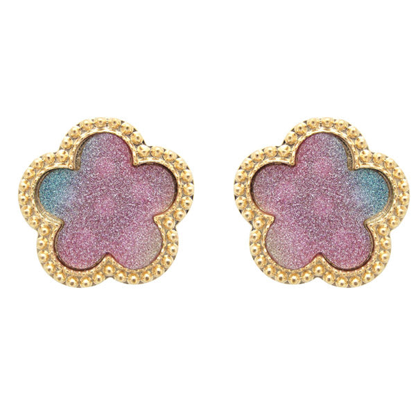 The99Jewel Gold Plated Multicolour Stud Earrings