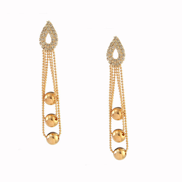 Urthn Austrian Stone Rose Gold Plated Dangler Earrings