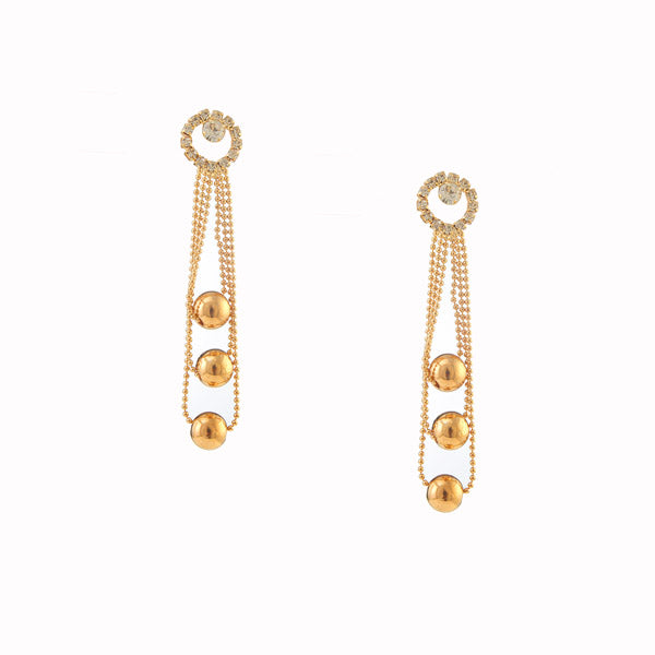 The99Jewel Austrian Stone Gold Plated Layering Dangler Earrings