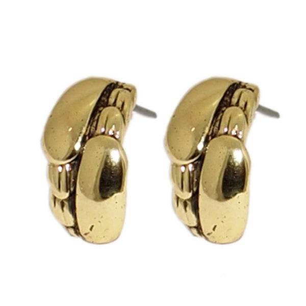14Fashions Antique Gold Plated Stud Earrings