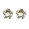 Urbana Pearl Silver Plated Stud Earrings