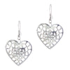 Jeweljunk Zinc Alloy Silver Plated Stone Dangle Earring