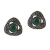 The99Jewel Austrian Stone Green Oxidised Stud Earrings