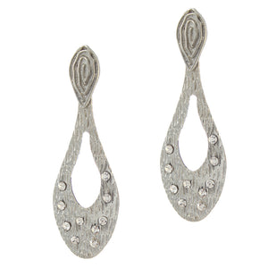 the99jewel silver plated white alloy danglers earrings