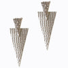 The99Jewel Stone Rhodium Plated Dangle Earring