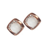 Urbana Pearl stone Gold Plated Stud Earrings