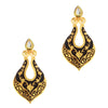 Aurum Gold Plated Meenakari Kundan Dangler Earrings