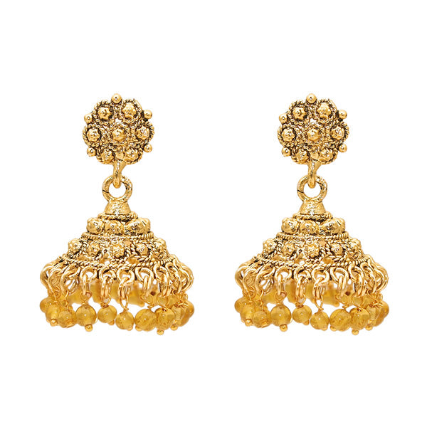 Kriaa Zinc Alloy Gold Plated Jhumki