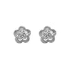 Romance Cubic Zirconia Diamond Floral Stud Earrings