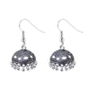 Jeweljunk Black Drop Oxidised Jhumki Earrings