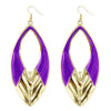 Urthn Purple Meenakari Gold Plated Dangler Earrings