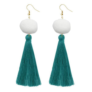Jeweljunk Green Thread Gold Plated Earrings-1310966D