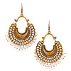 Jeweljunk Beads Antique Gold Plated Afghani Earrings