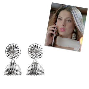 Jeweljunk Oxidised Plated Jhumki Earring