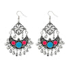 Jeweljunk Black Oxidised Plated Afghani Earrings