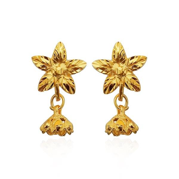 ce9d0480d Kriaa Floral Design Gold Plated Stud Earrings – The99Jewel.com