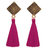 Jeweljunk Pink Thread Antique Gold Plated Tassel Earrings