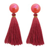 Jeweljunk Red Thread Tassel Earrings