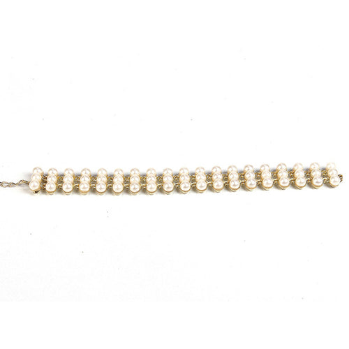 Urthn White Pearls Gold Plated Bracelet