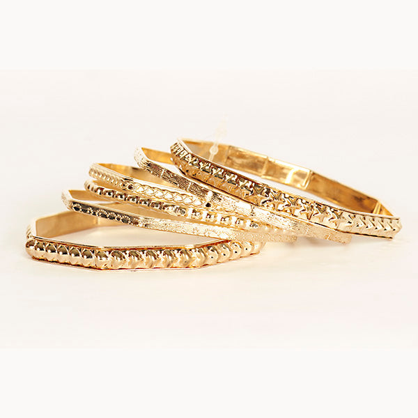 Urthn Zinc Alloy Gold Plated Bangle Set