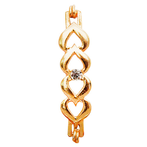 Kriaa Heart Shaped Gold Plated Bracelet
