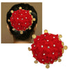 Apurva Pearls Red Floral Austrian Stone Hair Brooch