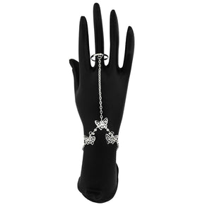 Apurva Pearls Butterfly Design Silver Plated Hand Harness