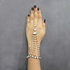 Apurva Pearls Gold Plated Pearl Stone Chain Hand Harness