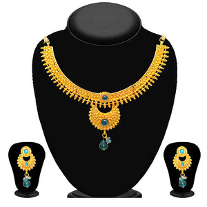 Soha Fashion Blue Kundan Necklace Set