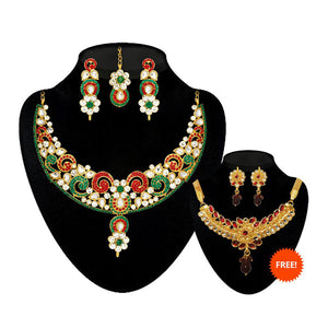 Kriaa Set of 2 Necklace Combo