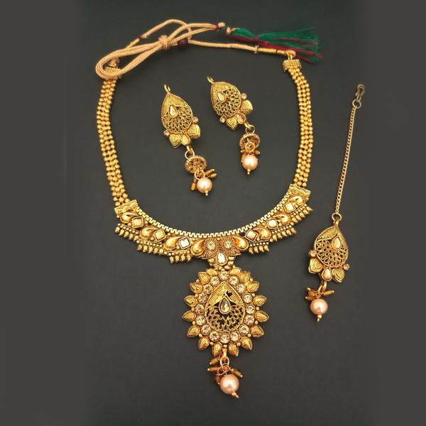 1f4e4be642d16 Bajrang Arts Copper Necklace Set With Maang Tikka
