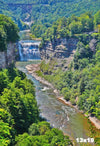 WAT0002- Middle and Upper Falls in Letchworth State Park