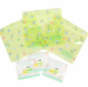 Keroppi Set of 6 PVC Zip Lock Travel Bags