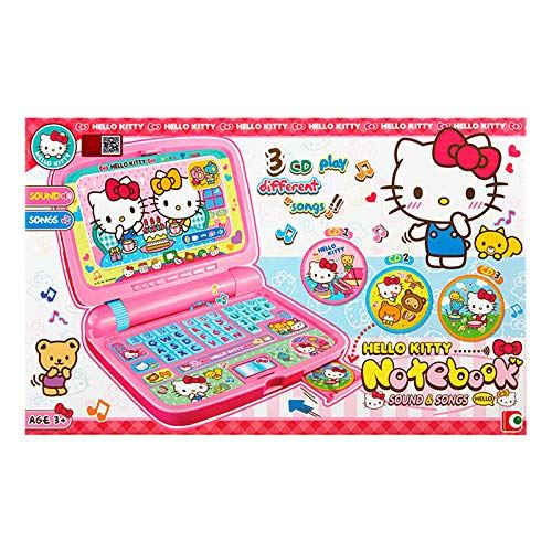 Sanrio Hello Kitty Toy Laptop Computer w/Sound & Songs (CD and Mouse Included)