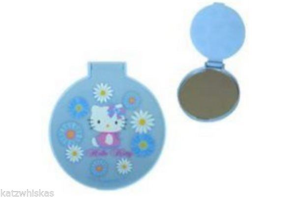 Hello Kitty Mirror Compact Blue Daisy