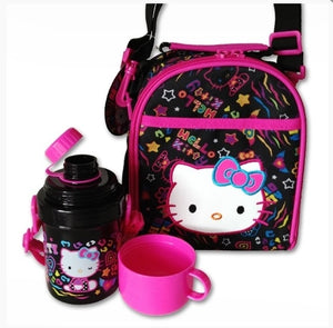 Hello Kitty Lunch Bag with Bottle: Neon