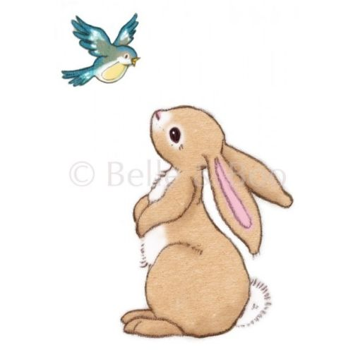 Belle & Boo Wall Sticker 'Boo & the Bluebird'