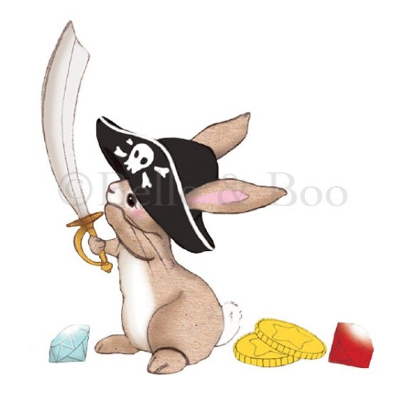Pirate Boo Wall Sticker Rabbit Belle & Boo