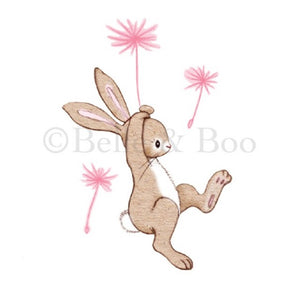 Belle & Boo Wall Sticker 'Boo & the Dandelion' - Vintage Style