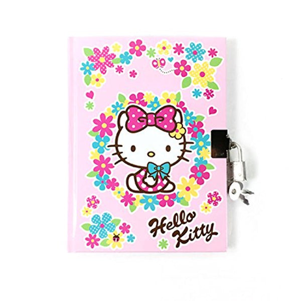 Hello Kitty Secret Locking Diary Journal