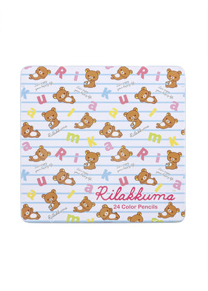 Rilakkuma 24 Color/Colour Pencils in Tin **SALE**