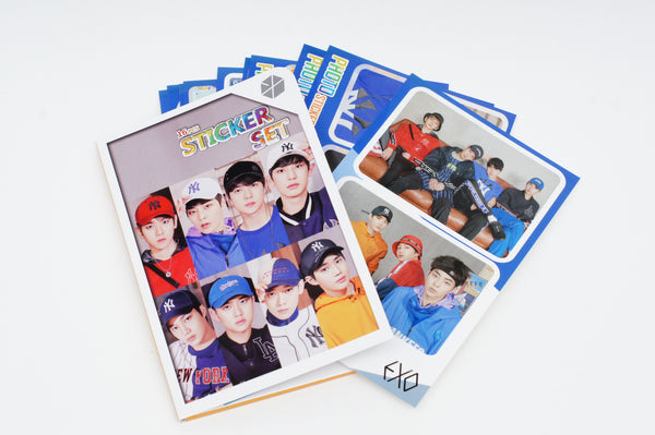 K-pop EXO  16 sheet Sticker Photograph Set