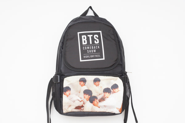 K-pop BTS Bangtan Boys Large Black Backpack Rucksack  (Comeback)