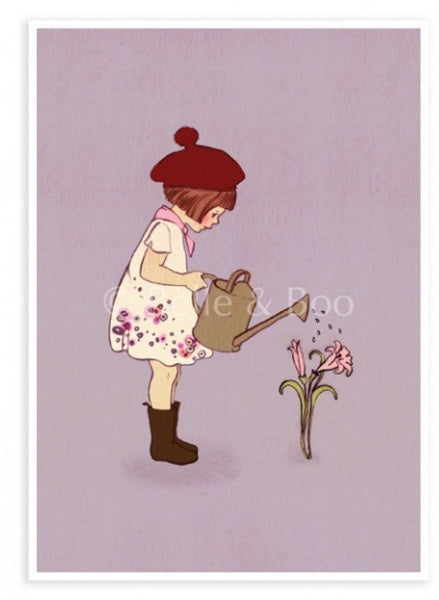 "Belle & Boo Postcard - ""Grew This""  (Vintage Style)"